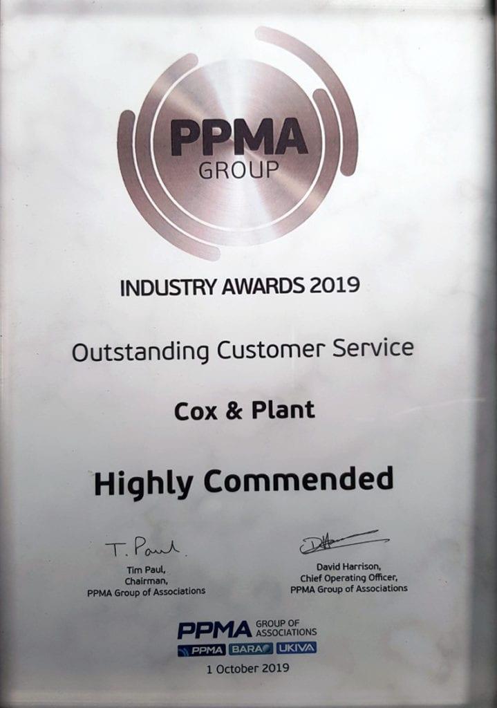 PPMA certificate